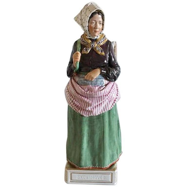 Royal Copenhagen Over-Glaze Figurine Skovshoved Girl #12171
