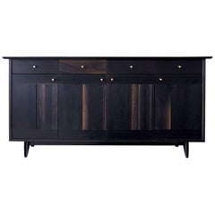 Spring Sideboard, Oxidized Walnut with Turned Brass Pulls