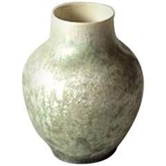 Royal Copenhagen Crystalline Glaze vase in Green by Valdemar Engelhardt H427