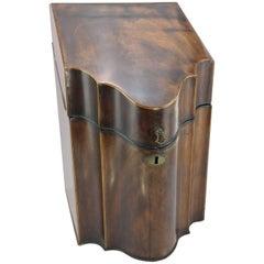 Georgian Mahogany Knife Box, Converted to Stationery Case, circa 1780