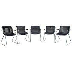 Set of Five Charles Pollock Penelope Chairs for Castelli