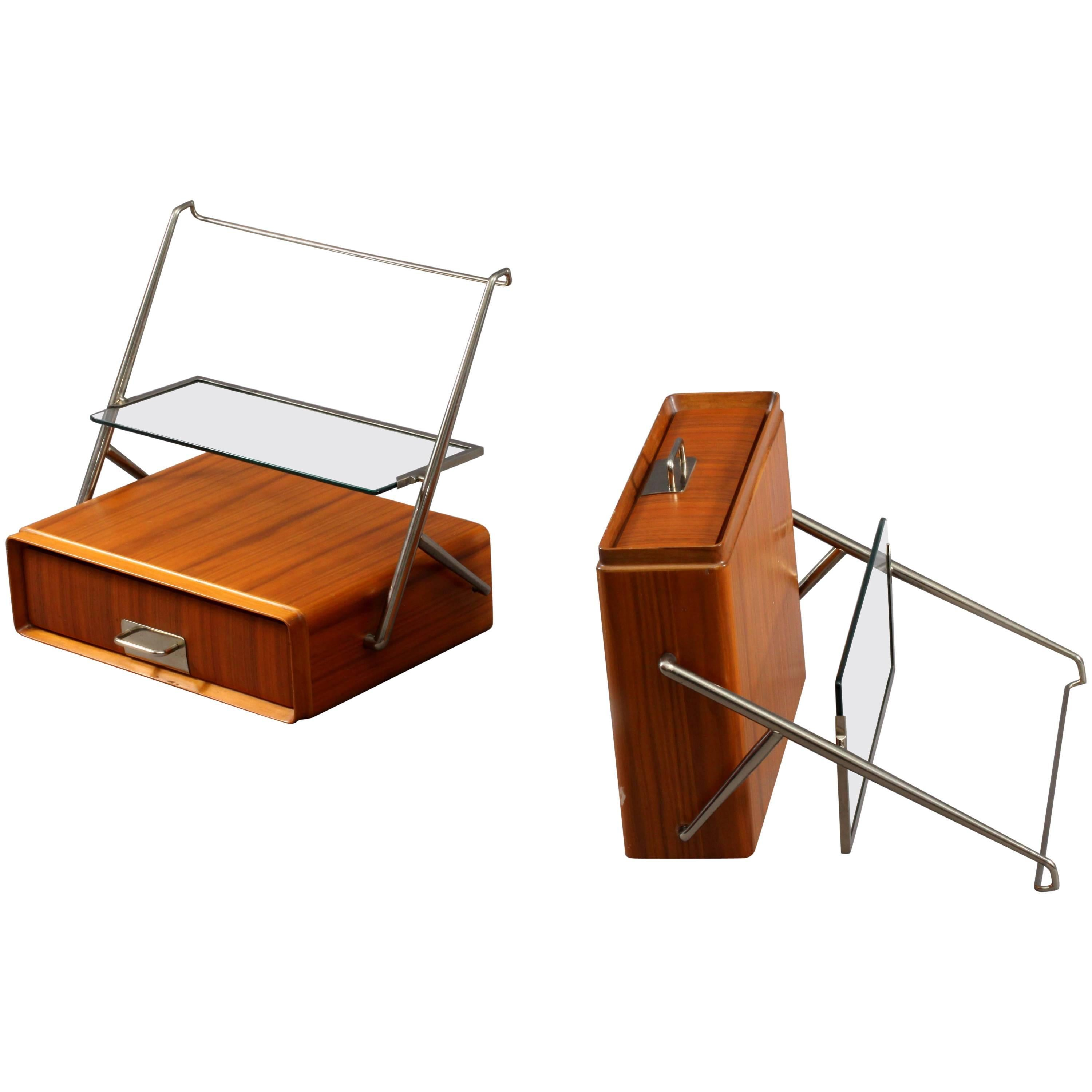 Silvio Cavatorta Wall Mounted Bedside Tables For Sale