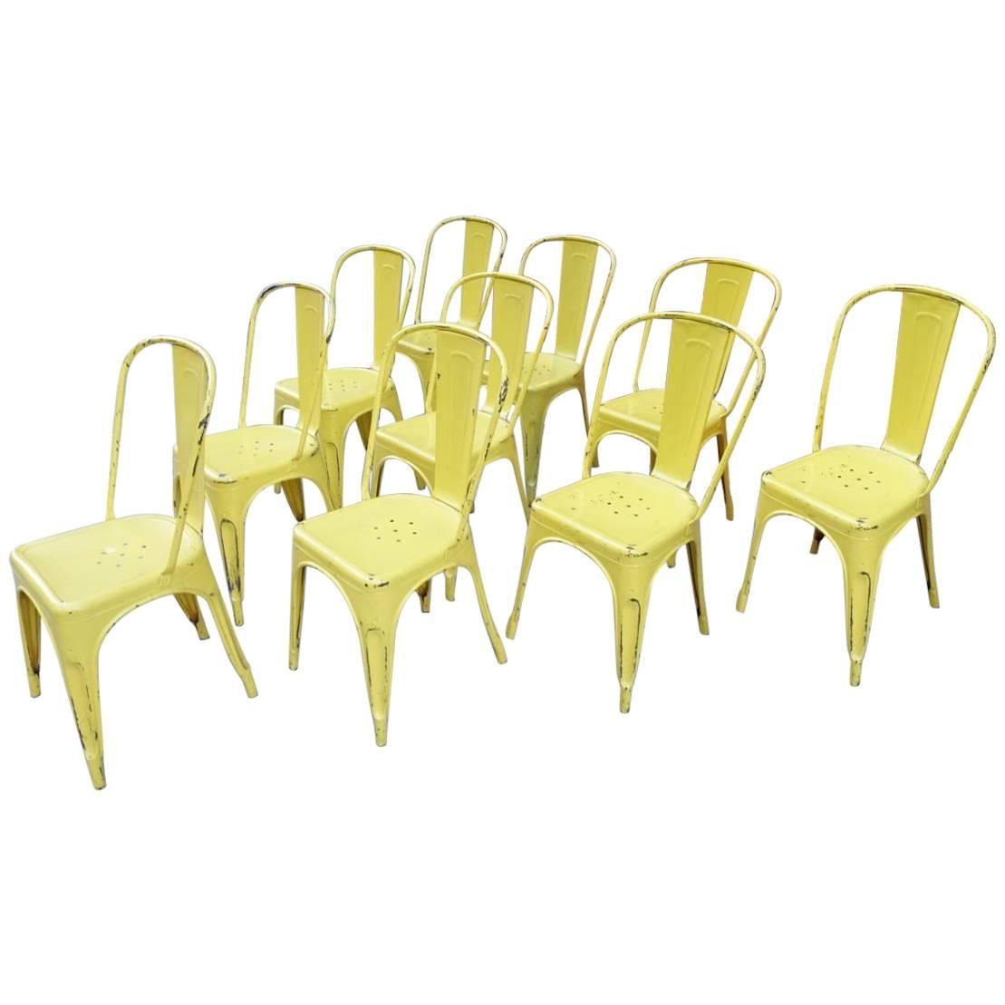 Iconic Tolix Chair In Sunny Yellow U0027Without Armsu0027 ...