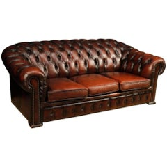 English Chesterfield Sofa in Leather from 20th Century