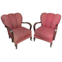 Pair of Chippendale Armchair, 1940s