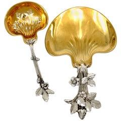 1898s Christofle Masterpiece French Sterling Silver 18-Karat Gold Strawberry Set