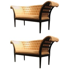 Pair of circa 1930 Pierre Lottier Painted Window Seats