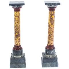 19th Century Pair of Italian Marble Grand Tour Doric Columns