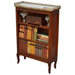 French Marble-Topped Open Bookcase