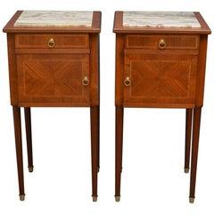 Pair of Edwardian Mahogany Bedside Cabinets