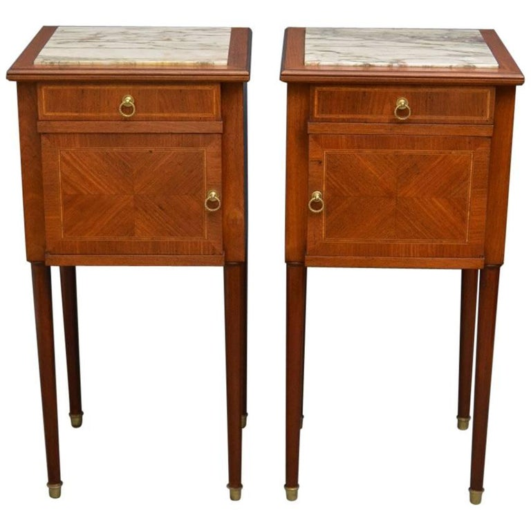 low priced 31aae 45fa8 Pair of Edwardian Mahogany Bedside Cabinets at 1stdibs