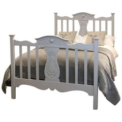 Edwardian Wooden Bed in Grey, WD21