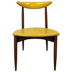 Seymour James Wiener Kodawood Curved Back Walnut Side Chair