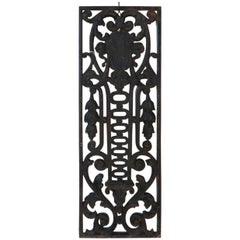 Late 19th Century French Cast Iron Door Guard or Fence