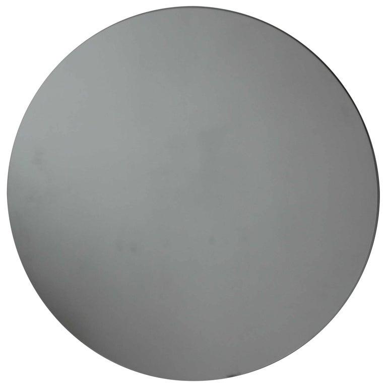 """Silver Orbis Round Mirror Frameless - Diam. 100cm / 39.4"""""""