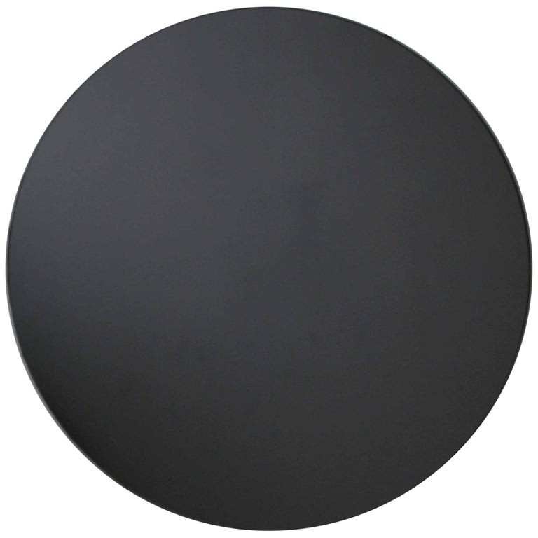 Black Tinted Orbis Round Mirror Frameless - Diam. 100cm / 39.4""