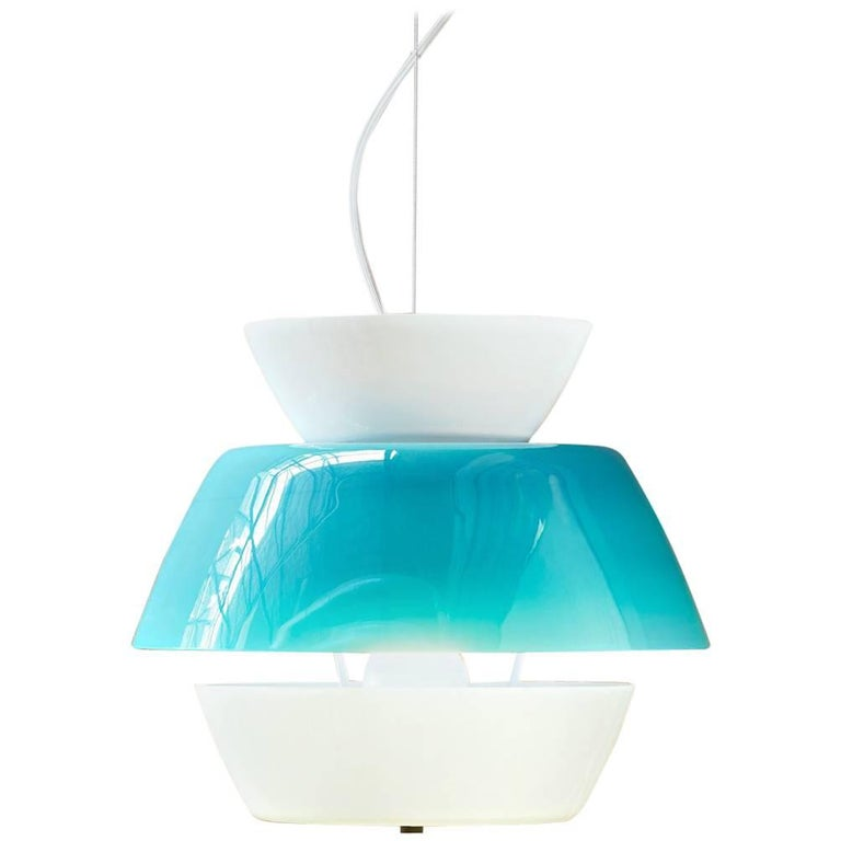 Lungomare B Suspension Lamp in Green by Carlo Moretti For Sale