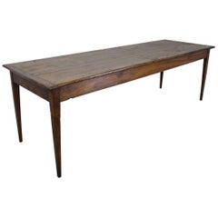 Long Antique Poplar Farm Table