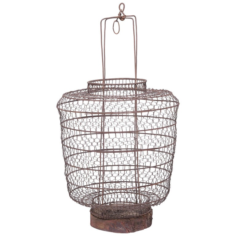 19th Century Chinese Twisted Wire Lantern