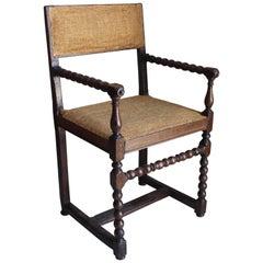 Flemish Turned Wood Armchair