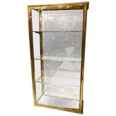 Brass and Glass Wall Cabinet