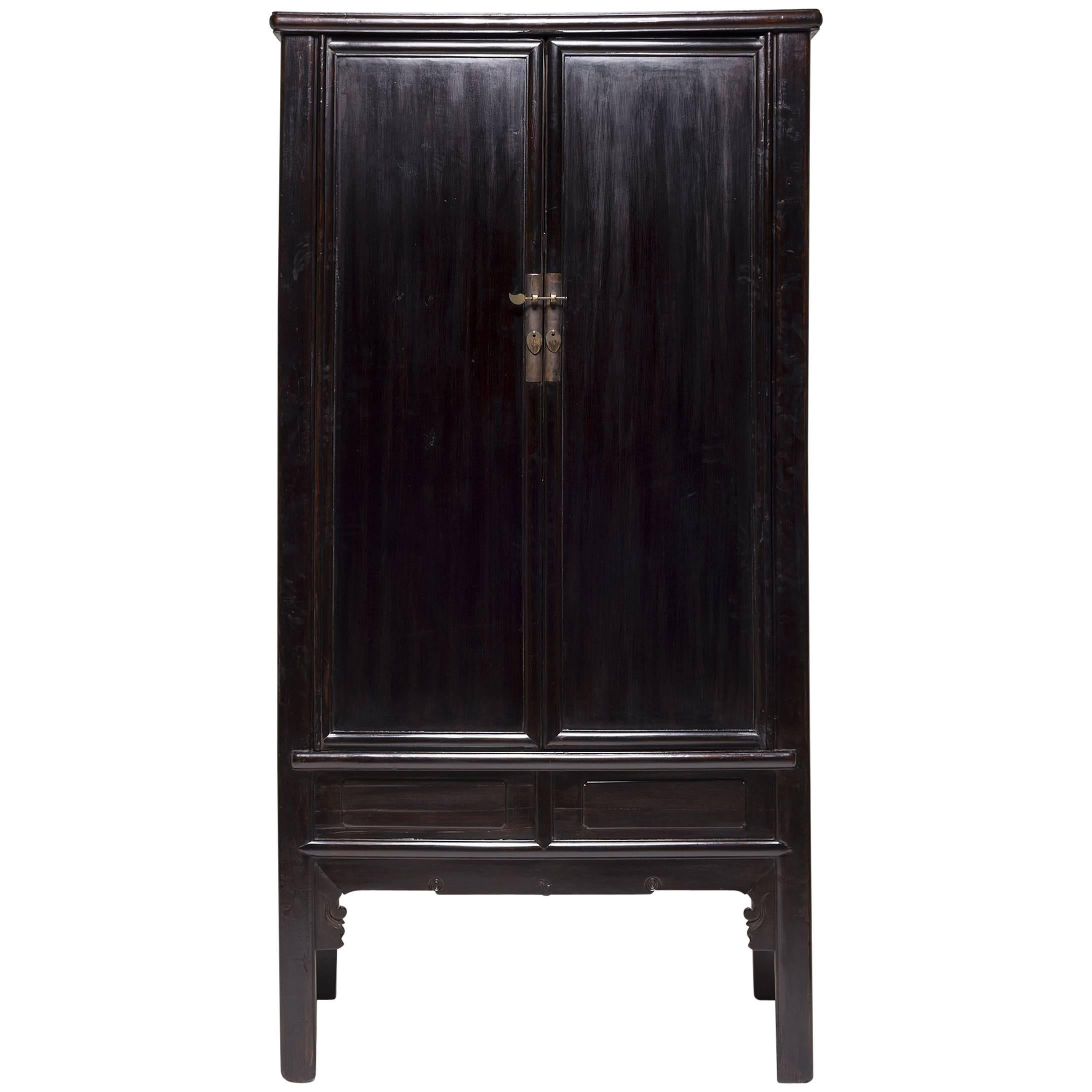 Chinese Black Lacquer Cabinet, c. 1850