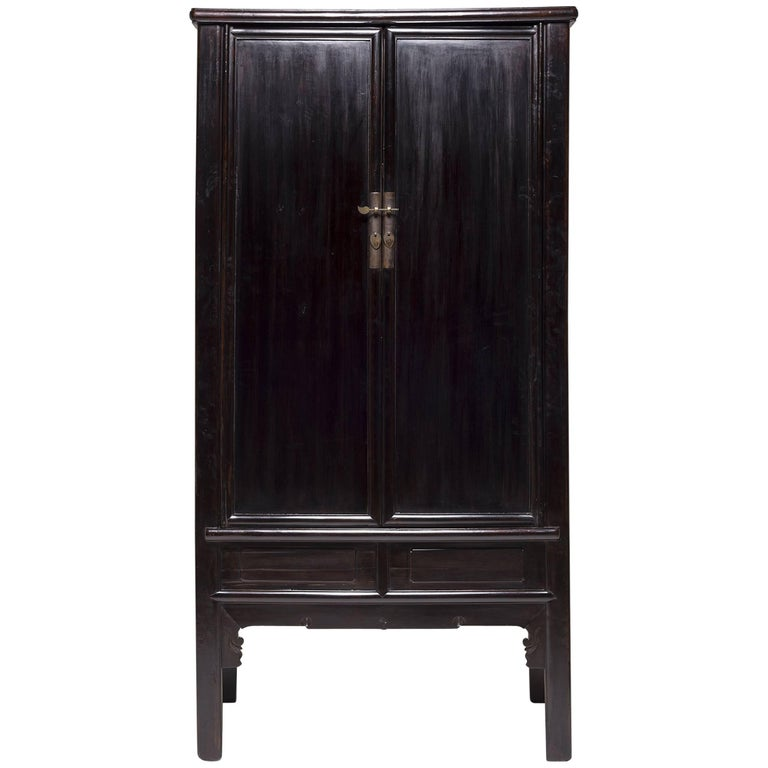 Mid-19th Century Chinese Rounded Square Scholar's Cabinet