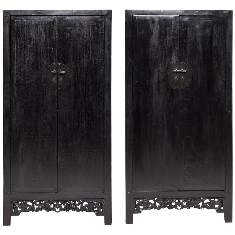 Pair of Mid-19th Century Chinese Prosperity Cabinets
