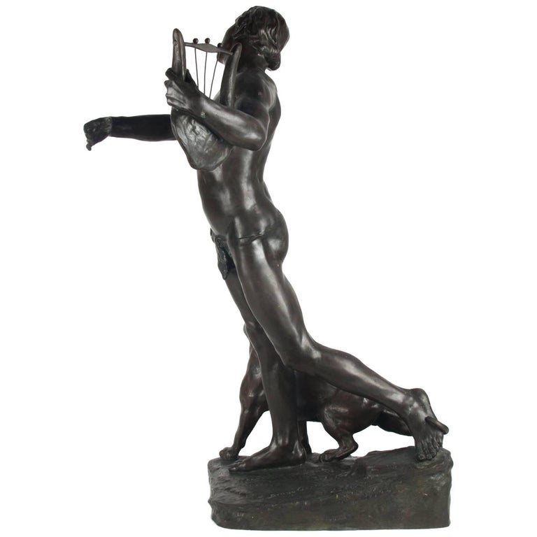 Antique Bronze Sculpture, Signed on Base, Bruno Gerrits