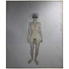 Monumental Painting of Male Nude by John Mandel