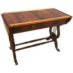 Regency Style Mahogany Console Sofa Table