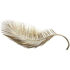 Brass Cast Palm Tree Leaf Bowl
