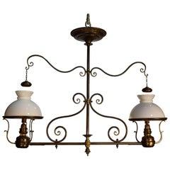 Antique Chandelier, Oil Light