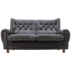 Midcentury Design Leather Sofa