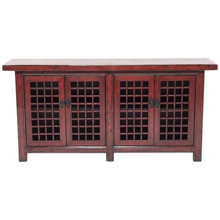 Chinese Courtyard Lattice Coffer