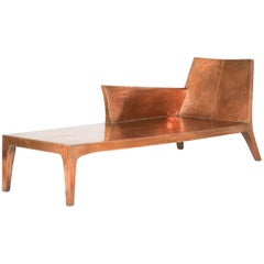 Copper Clad Chaise Designed by Paul Mathieu for Stephanie Odegard Co. Ltd.