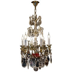 French Louis XVI Style, Ormolu and Cut Crystal Small Chandelier by Baccarat