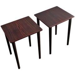 Pair of Ebony Elegant Side Tables