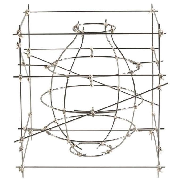 """Castillo"" Aluminum Decorative Vase 'Small' by Cooperativa Panorámica For Sale"