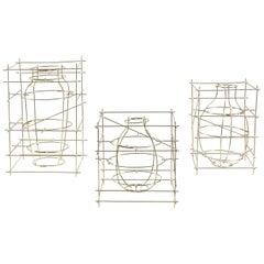 "Contemporary Sculptural Brass Small Vase ""Castillo"" by Cooperativa Panorámica"