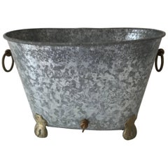 Vintage Regency Zinc Cooler or Ice Bucket