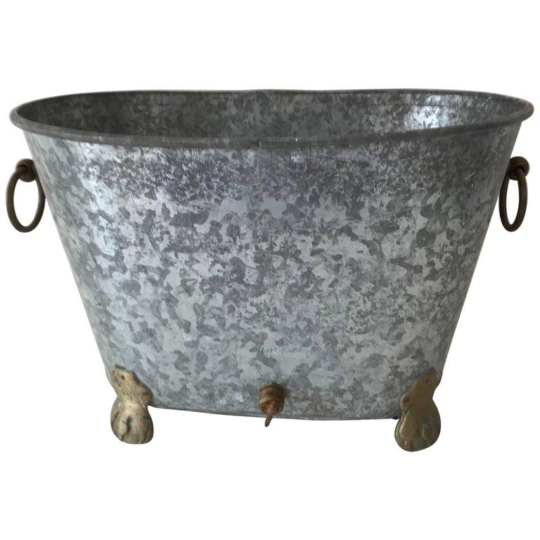 Vintage Regency Zinc Cooler or Ice Bucket