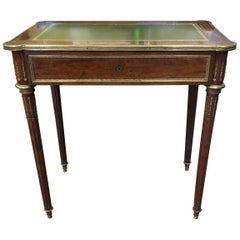 Louis XVI Style Brass Inlaid Mahogany Desk, 20th Century