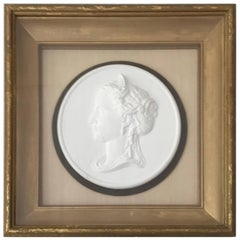 Bisque Cameo in Gilt Frame