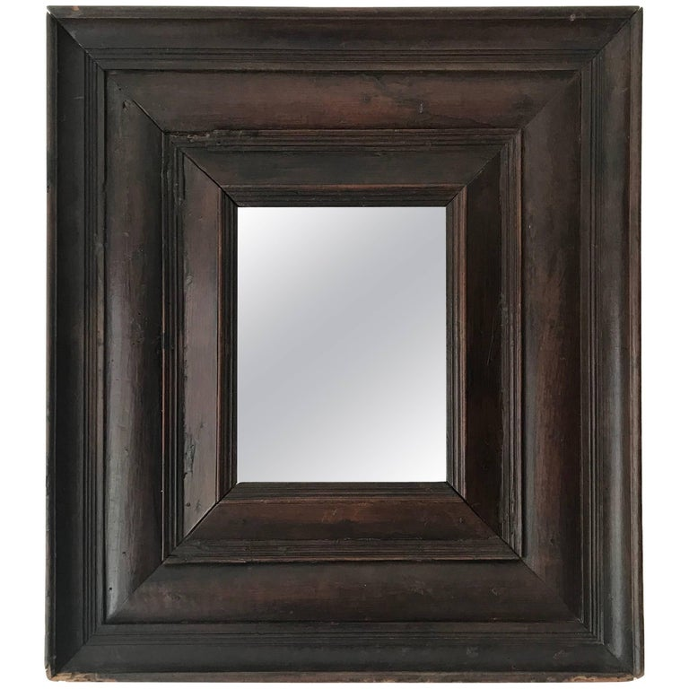 Antique French Carved Wood Mirror