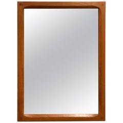 Danish Modern Solid Teak Frame Mirror by Aksel Kjersgaard