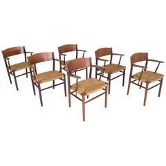 Børge Mogensen Dining Chairs by Søborg Møbelfabrik in Denmark