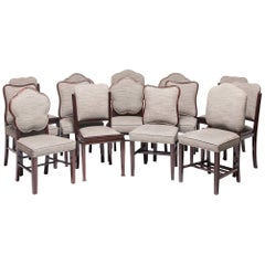 Collection of 14 Shanghai Deco Rosewood Dining Chairs