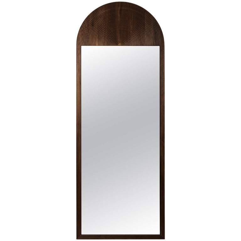June Floor Mirror, in Carved Walnut and Hand-Cut Mirror For Sale at ...