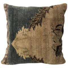 20th Century Turkish Rug Fragment Pillow